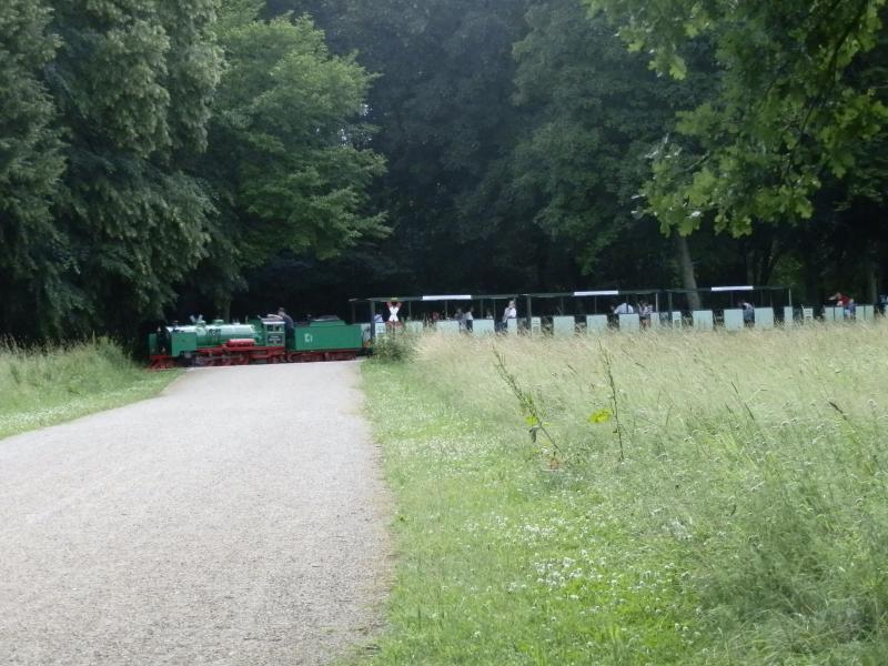 """Veel Duitse steden - en dan vooral in de voormalige DDR - hebben een Parkeisenbahn. Vroeger werden ze ook wel Pioniereisenbahn genoemd en werd de exploitatie verzorgd door kinderen (onder begeleiding) als voorbereiding op een latere carrière bij de spoorwegen. Deze Parkeisenbahnen zijn zeker interessant, bijvoorbeeld door het gebruik van echte stoomlocomotieven. Daarom vond ik dat een plaatje van de Dresdense variant in het stadspark """"Grosser Garten"""" niet mocht ontbreken als ik het heb over smalspoor rond Dresden.Hoewel al in 1930 en in 1936 een soort Parkeisenbahn reed, dateert het huidige traject uit 1950. De spoorwijdte is 381mm en het langste traject is maar liefst 5,6km lang. Er wordt met maximaal 20 km/u gereden.De stoomlocomotieven zijn echter nog ouder: ze werden door Krauss in München gebouwd in 1925. Met asindeling 2'C1' verwijzen ze duidelijk naar de grootste stoomlocomotieven uit hun tijd. Ze zijn zelf ook technische hoogstandjes: er is een doorgaande luchtrem en ze zijn voorzien van een oververhitter. Zonder de tender wegen ze 5600 kg en zijn ze 4,36 meter lang. Geen gewoon speelgoed dus!"""