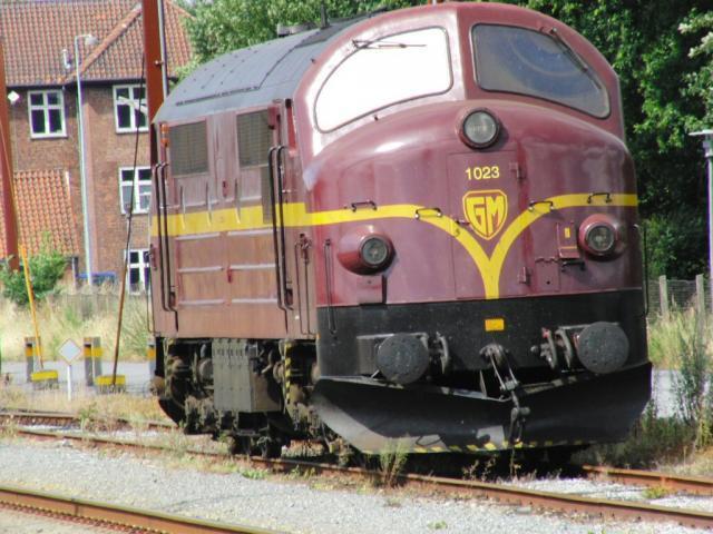 NoHAB ′Bolle Neus′ 1033 in Padborg. Een ex-NSB-DSB loc van het type MX uit begin jaren ′60.Foto: Theo Gramser Periode: juli 2010