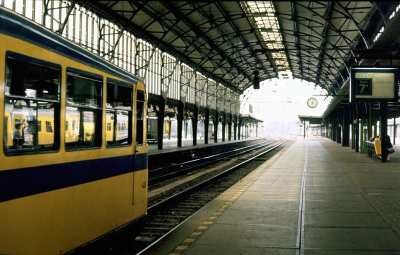De Kameel staat onder de overkapping van Utrecht CS.