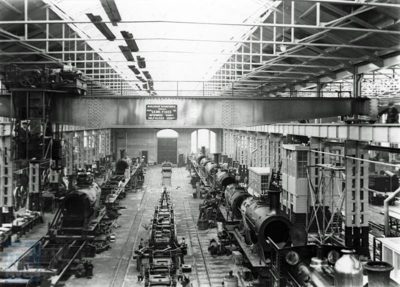 Tot slot een beeld van de plek waar men ervoor zorgde dat al die treinen ook konden blijven rijden, de werkplaats; in dit geval te Tilburg.