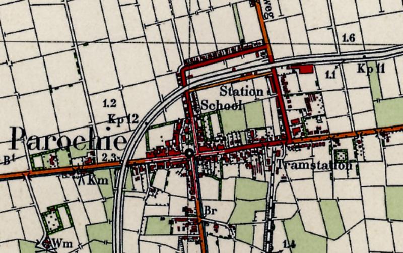 Topografische kaart uit 1937 van Sint-Jacobi-Parochie