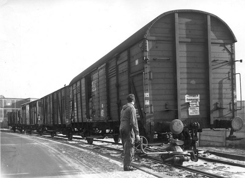 Een wagonduwer
