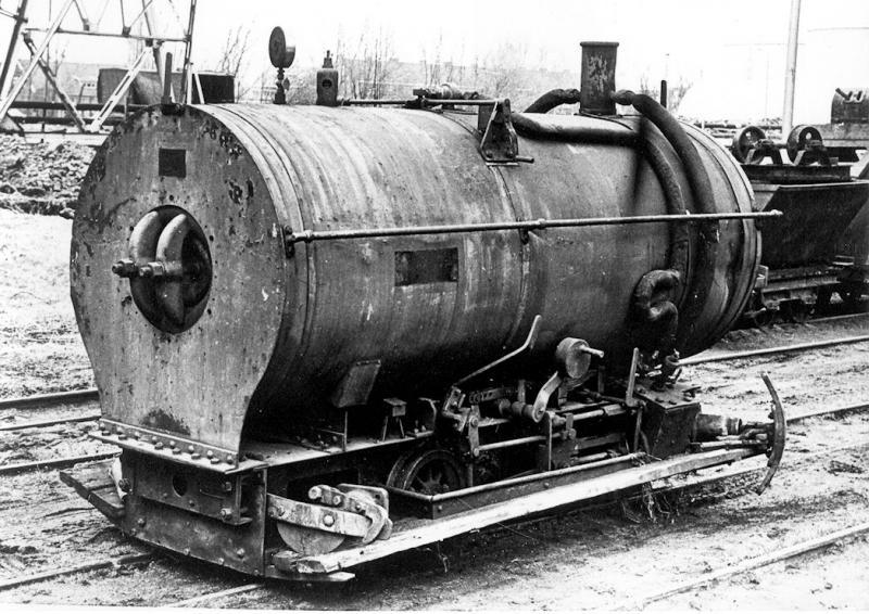 Vuurloze locomotief van de Gistfabriek in Delft