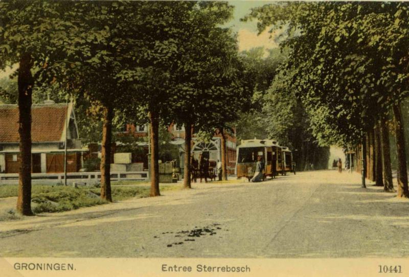 station van de TMZG (Tramweg-Maatschappij Zuidlaren-Groningen)