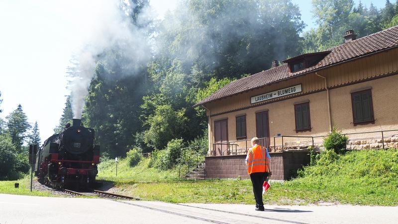 Vertrek bij Lausheim-Blumegg.