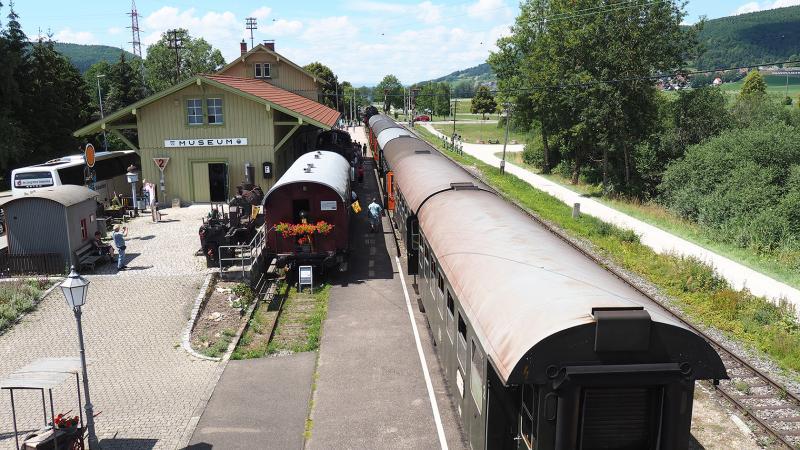 Bij station Blumberg-Zollhaus is een klein spoorwegmuseum ingericht.