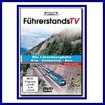 Führerstands TV. Lötschenbergbahn Brig Kandersteg