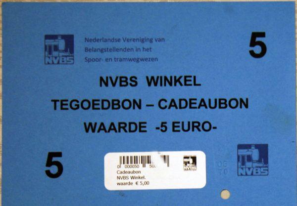 tegoed bon €5